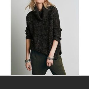 Free people Dylan Tweedy small sweater gray